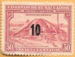 Stamps : America : El_Salvador :  pirámide maya