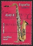 Stamps Europe - Spain -  Instrumentos musicales - Saxofone