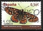 Stamps Europe - Spain -  Mariposas - Euphydryas aurinia