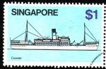 Sellos del Mundo : Asia : Singapur : Barco de cercaanías