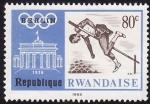 Stamps Rwanda -  Salto de Altura