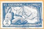 Sellos de America - El Salvador -  mapa