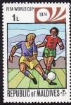 Stamps Asia - Maldives -  Mundial de Alemania 74