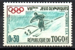 de Africa - Togo -  8th JUEGOS  OLÍMPICOS  DE  INVIERNO,  VALLE  PIEL  ROJA  DE  CALIFORNIA.  ESQUIADOR.