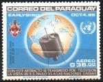 de America - Paraguay -  VISITA  DE  S. S. PABLO  VI  A  LA  O.N.U.  SATÊLITE  DE  TRANSMISIÓN.