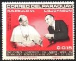 de America - Paraguay -  VISITA  DE  S. S. PABLO  VI  A  LA  O.N.U.  ENCUENTRO  HISTÓRICO.