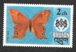 Sellos de Asia - Bhután -  174 - Mariposa