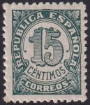 sello : Europa : España : 15 Cts República