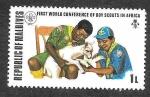 Sellos de Asia - Maldivas -  427 - I Conferencia Mundial de Boy Scout en África