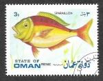 Stamps Oman -  Pez Raspallón (C)