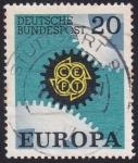 Stamps Germany -  CEPT Zahnrad 1