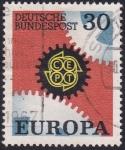 Sellos de Europa - Alemania -  CEPT Zhnrad 2