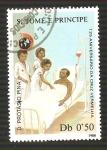 Sellos de Africa - Santo Tomé y Principe -  848A