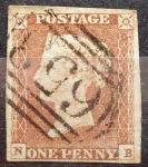 Stamps : Europe : United_Kingdom :  Queen Victoria-REINO UNIDO-1841