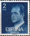 Sellos del Mundo : Europa : España : ESPAÑA 1976 2345 Sello Serie Básica Rey Juan Carlos I 2 pts nuevo sin goma