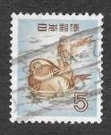 Sellos de Asia - Japón -  611 - Pato Mandarín