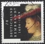 Stamps Germany -  400 aniversario del  nacimiento de Rembrandt