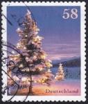sello : Europa : Alemania : abeto navideño