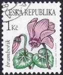 Stamps : Europe : Czechoslovakia :  ciclamen