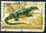 Stamps Africa - Ivory Coast -  Varano del Nilo