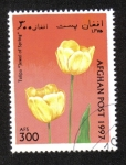 Sellos del Mundo : Asia : Afganistán :  Tulipanes