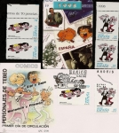 Stamps Spain -  Personajes de Tebeo - Comics  +  SPD