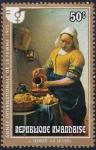 Stamps Rwanda -  Vermeer- La Lechera