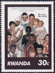 Sellos de Africa - Rwanda -  Faites aux autres ...