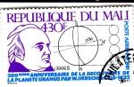 Stamps Mali -  200 ANIV. DESCUBRIMIENTO DEL PLANETA URANO