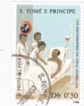 Stamps : Africa : São_Tomé_and_Príncipe :  125 ANIV. CRUZ ROJA