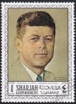 Stamps : Asia : United_Arab_Emirates :  JFK de Norman Rockwell
