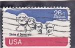 Stamps America - Eastern Caribbean States -  caras de presidentes U.S.A