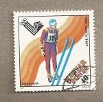 Sellos de Europa - Hungría -  Juegos olímpicos de invierno  Lago placid