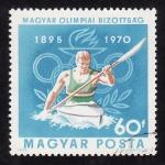 Stamps Hungary -  75º Aniversario de los Juegos Olimpicos de la Era Moderna