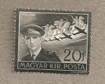 Stamps Hungary -  Muerte en accidente aéreo de Esteban Horthy, hijo del regente Nicolás Horthy