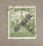 Stamps Hungary -  Cosechando