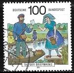Stamps : Europe : Germany :  Entrega de correo