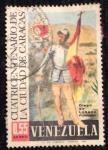 Stamps : America : Venezuela :  Cuatricentenario de la ciudad de Caracas