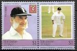 Sellos del Mundo : Asia : Bhután : Grandes Jugadores de Cricket - T.G. Evans