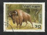 Sellos del Mundo : Asia : Vietnam :  307 - Animal salvaje, bisonte