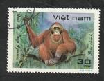 Sellos del Mundo : Asia : Vietnam :  308 - Animal salvaje, pongo pymaeus
