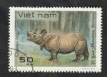 Stamps Vietnam -  311 - Animal salvaje, rinoceronte