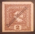 Sellos del Mundo : Europa : Austria : Newspaper Stamps of 1916 Overprinted