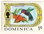 Sellos de America - Dominica -  Colibri.