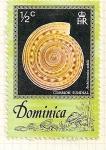 Sellos de America - Dominica -  Conchas marinas. Curso solar común.