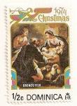 Sellos de America - Dominica -  Navidad 1974. Virgen y niño por Oronzo.