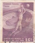 Sellos de America - Chile -  CAMPEONATO MUNDIAL FUTBOL-62