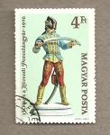 Stamps Hungary -  Húsar chino