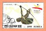 Sellos de Asia - Corea del norte -  JUEGOS  OLÍMPICOS  BARCELONA  1992.  SALTO  CON  PÉRTIGA.