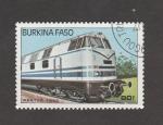 Stamps Burkina Faso -  Locomotora